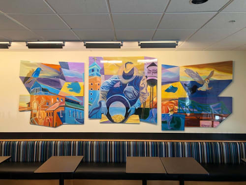 Murals by Bobby MaGee Lopez at King Soopers Marketplace, Arvada - Arvada