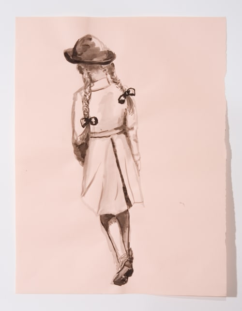 Paintings by Cynthia Lahti Fine Art seen at Private Residence, Westport - Ink Painting : Cousin #4