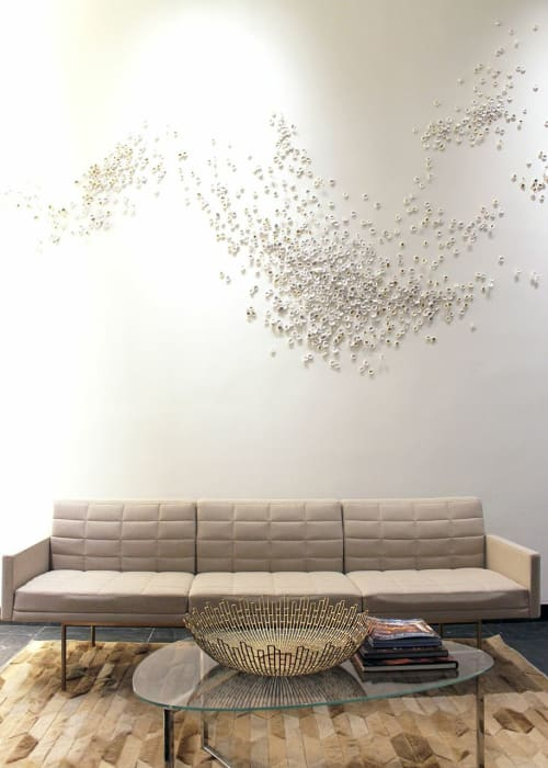 Sculptures by Christina Watka seen at The Dylan On Fifth, NYC, New York - Murmuration VII