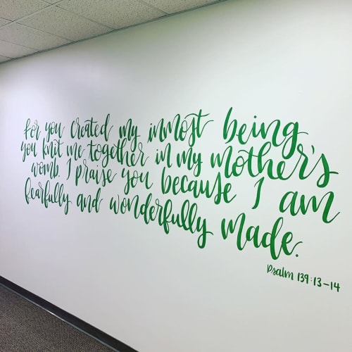 Murals by Fresh Prints of Belaire seen at Second Baptist Church, North Campus, Houston - Psalm 139: 13-14