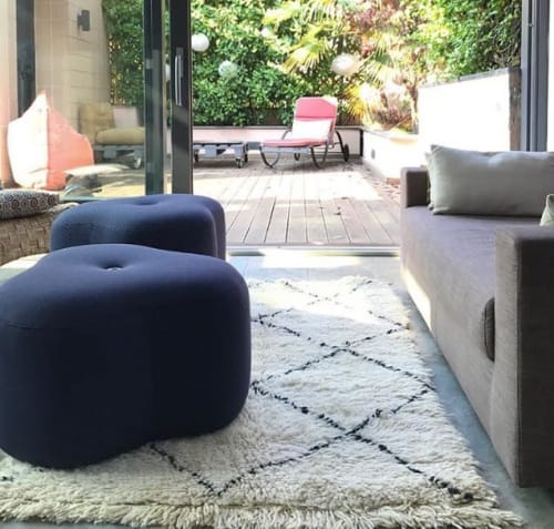 Chairs by Design by nico seen at Private Residence - Poppy Bloom Stool Blue