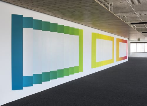 Art & Wall Decor by christopher derek bruno at Dolby Laboratories Inc, San Francisco - Interior installation 9 : per angusta ad augusta