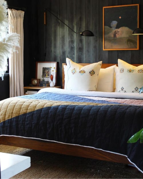 Linens & Bedding by Lauren Williams seen at Private Residence, Sonoma - Geometric Quilt