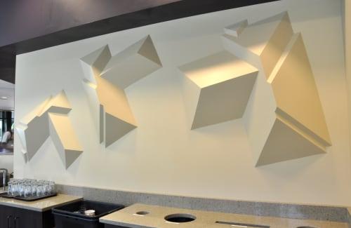 Sculptures by Dylan Beck seen at Radina's Coffeehouse - KSU Leadership Studies, Manhattan - Bubble Market