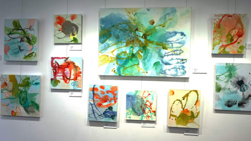 Paintings by Wendy Grace seen at Frankston Arts Centre, Frankston - infinite space
