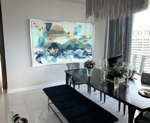 """Paintings by Ana Zanic seen at The Bristol West Palm Beach, West Palm Beach - """"Origin II"""", large scale watercolor by Ana Zanic"""