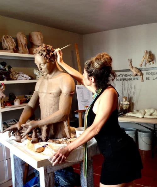 """Sculptures by Carmen Jimenez seen at Private Residence, San Miguel de Allende - Casa """"R.C."""""""