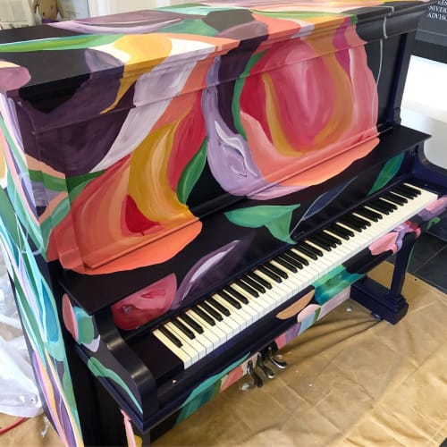 Murals by Elisa Gomez Art seen at University Center for the Arts, Fort Collins - Piano Exterior mural