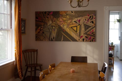 Paintings by Rae Heller seen at Private Residence, Princeton - How We Speak to Each Other