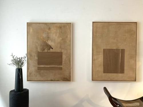 Paintings by Monica Curiel seen at Creator's Studio, Kansas City - Fugacidad Painting (Left)
