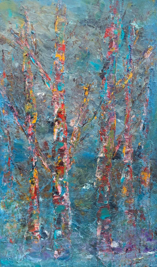 Paintings by Mireille Laroche seen at Creator's Studio, Ottawa - Foggy Morning