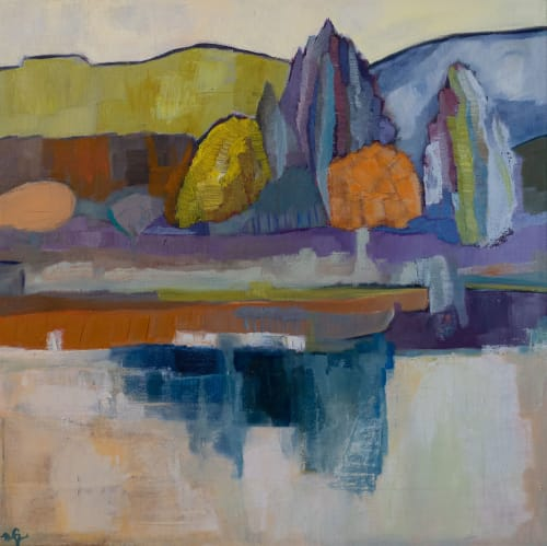 Paintings by Cécile Ganne seen at Private Residence, Belmont - Reflections