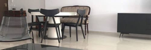 Chairs by Athanasios Babalis seen at Private Residence, Thessaloniki - Yolee