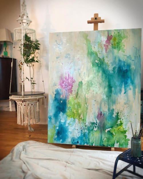 Paintings by Amanda M Moody seen at Herron and Smith Dentistry, Charlotte - karma