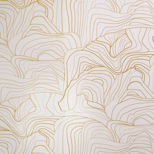 Wallpaper by Jill Malek Wallpaper - Sandstone | Gold Rock