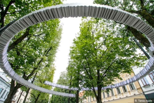 Public Art by Giny Vos seen at Laisvės alėja, Kaunas - Monument for Jan Zwartendijk