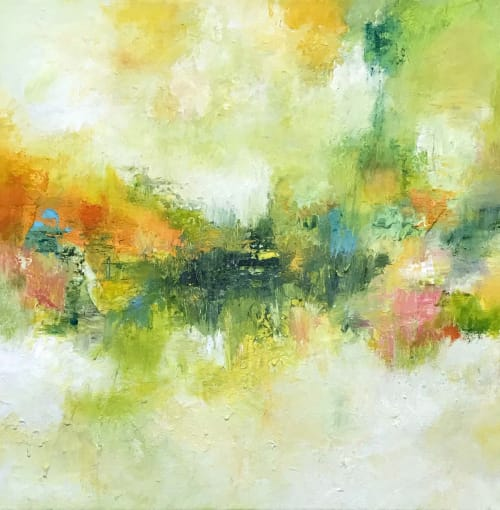Paintings by Strokes by Red - Red (Linda Harrison) - Monet's Influence Oil Abstract