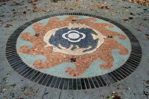 Public Mosaics by Connie Glover Pottery seen at Kwomais Point Park, Surrey - Kwomais, A Place of Vision