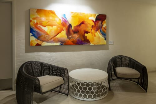 Paintings by Cari Guerin seen at Paséa Hotel & Spa, Huntington Beach - Abstract Painting