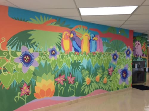 Nicklaus Children's Hospital Mural   Murals by Nicki Deux   Nicklaus Children's Palmetto Bay Urgent Care Center in Palmetto Bay