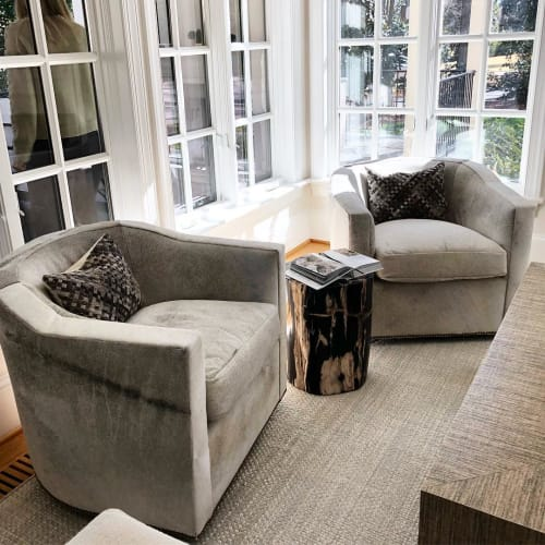 Chairs by vanCollier seen at Private Residence, Washington Park - Caldwell Swivel Chair