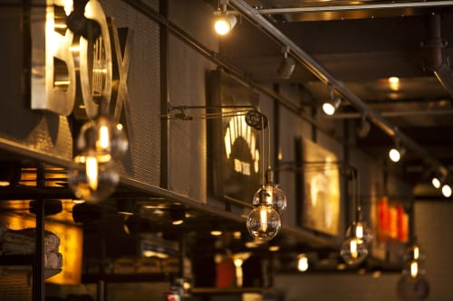 Pendants by Industrial Rewind seen at City Kitchen, New York - Pendants