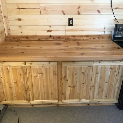 Furniture by A&W Woodworking seen at Private Residence, Earlville - Cabinets and Countertops