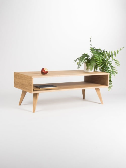 Tables by Mo Woodwork seen at Stalowa Wola, Stalowa Wola - Mid century modern coffee table, box sofa table, made of oak wood