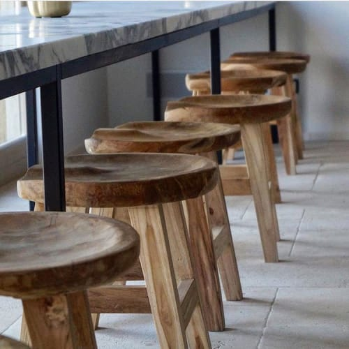 Chairs by Muubs seen at Mandali Retreat Center, Quarna Sopra - Bar stool Oval