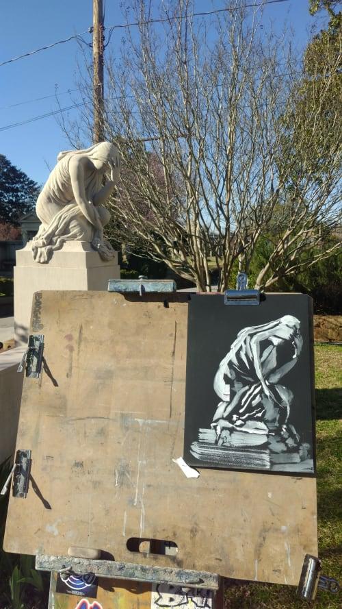 Paintings by Sahand V. ART seen at Atlanta, Atlanta - Weeping Woman II