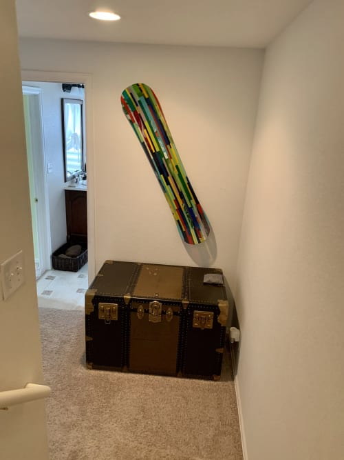 Wall Hangings by Natalie Ventimiglia seen at Private Residence, Parker - Snowboard