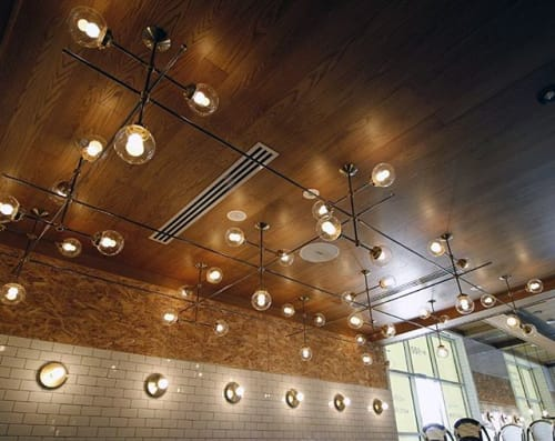 Chandeliers by Deschênes Lighting / Luminaire at Quebec City, Quebec City - PIZZA NO900 QUÉBEC CITY