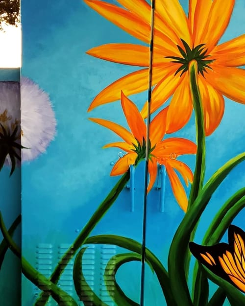 Street Murals by Studio Jexxi seen at Private Residence, Houston - Utility box mural