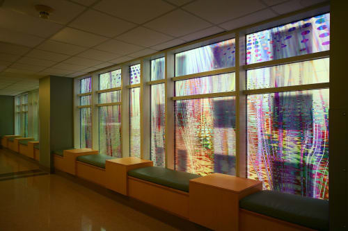 Art & Wall Decor by Kate Sweeney seen at Harborview Medical Center, Seattle - Winter, Summer, Fall and Spring Window