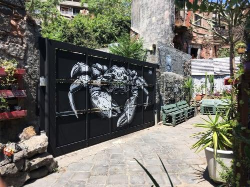Murals by Kuba seen at San Berillo Quartiere, Catania - Krebs Mural