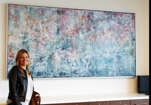 Paintings by Andrea Bonfils seen at Stamford Hospital - Bennett Medical Center, Stamford - Stamford Hospital Collection