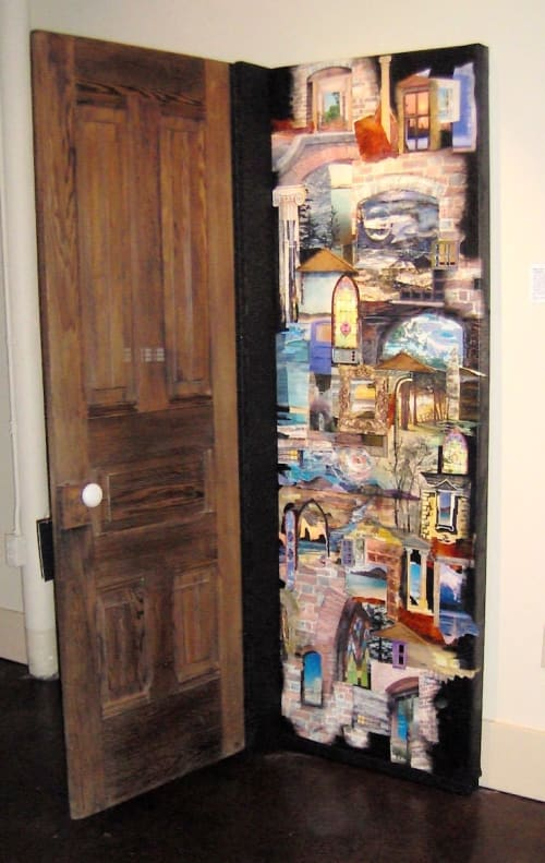 Paintings by Eileen Downes seen at Museum of Biblical Art, Dallas - Open Door Policy