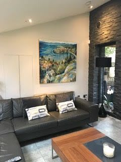 Paintings by BLYTHE SCOTT seen at Private Residence, Glasgow - 'Take it from the Top'
