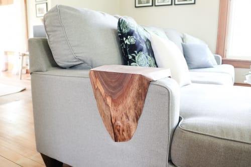 Armrest Walnut Waterfall Sofa Table | Tables by Hazel Oak Farms