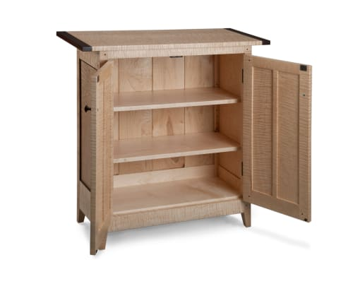 Furniture by Thomas William Furniture seen at Private Residence, Washington - Tiger Maple Side Cabinet