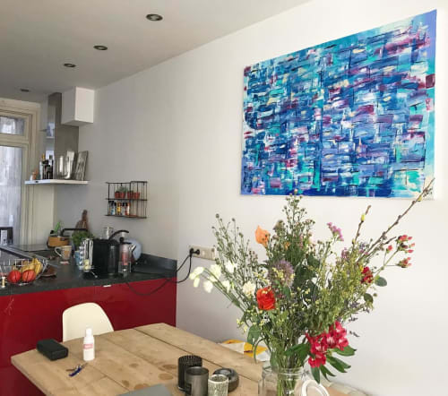 Paintings by Art by Anne-Claire Fleer at Private Residence, Amsterdam - Abstract Painting