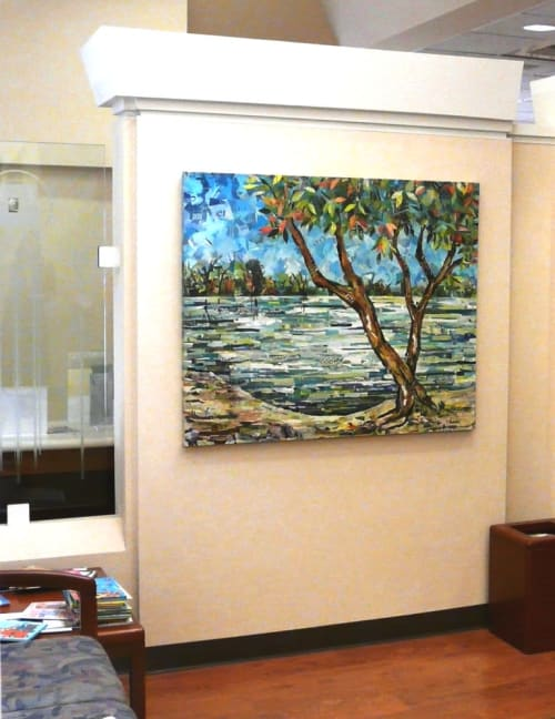Paintings by Eileen Downes seen at Folsom, Folsom - American River Series No. 16