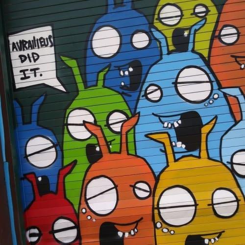 Murals by Aurailieus seen at Fresh Fest, Tampa - Graffiti art