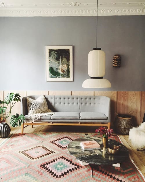 Pillows by Modern Macramé by Emily Katz seen at Private Residence, Copenhagen - Macrame Pillow
