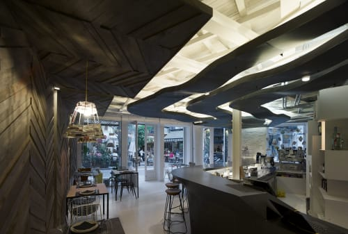 "Interior Design by Potiropoulos+Partners seen at Athens, Athens - Restaurant, Bar & Shop of ""Shedia Home"" on Kolokotroni Str."
