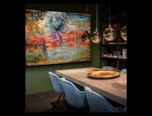 Paintings by Hamilton-art seen at SpaOne, Oosterhout - Oilpainting: Luz de la Luna