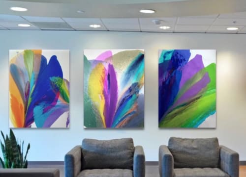 Paintings by Barbara Januszkiewicz, Colorfield artist seen at Office space in DC, Washington - Office space in DC, K Street Northwest, Washington, DC, USA