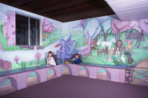 Murals by Beth Shadur seen at Private Residence, Wilmette - Mural for private home
