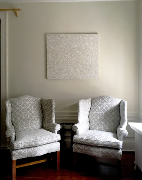 Paintings by Farida Hughes seen at Private Residence, Owings Mills - Groundswell, White
