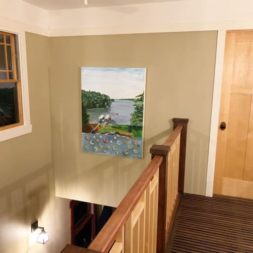 Paintings by Emily Williams-Wheeler seen at Lake Redstone - Painting